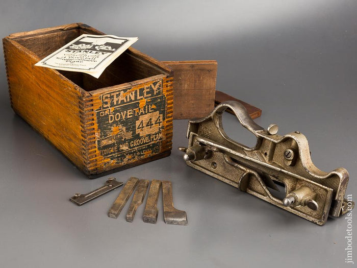 STANLEY No. 444 Dovetail Plane 100% COMPLETE in Original Box - 83793