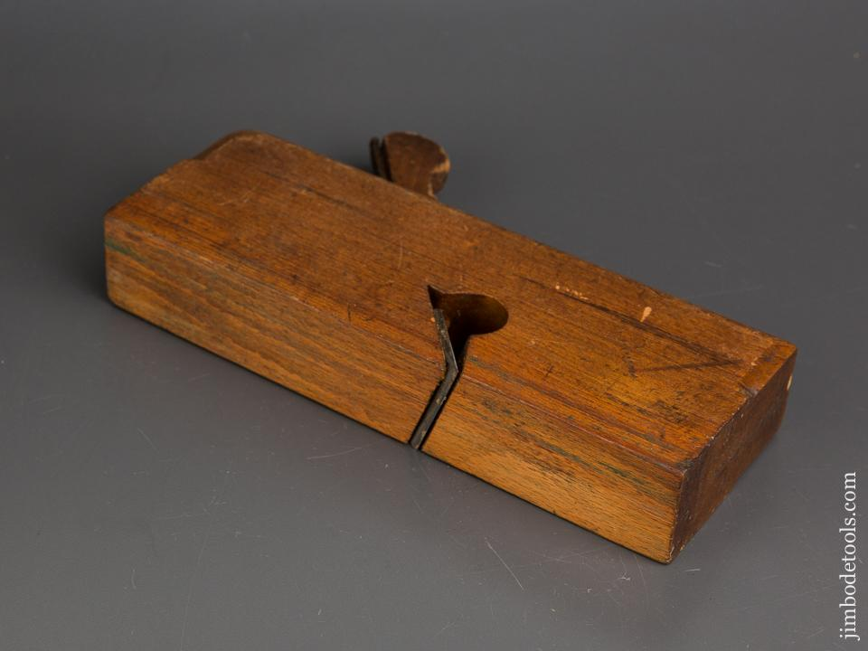 Good User MOSELEY & SON Wooden Rabbet Plane circa 1861 NEW ST SQUARE LONDON = 83796