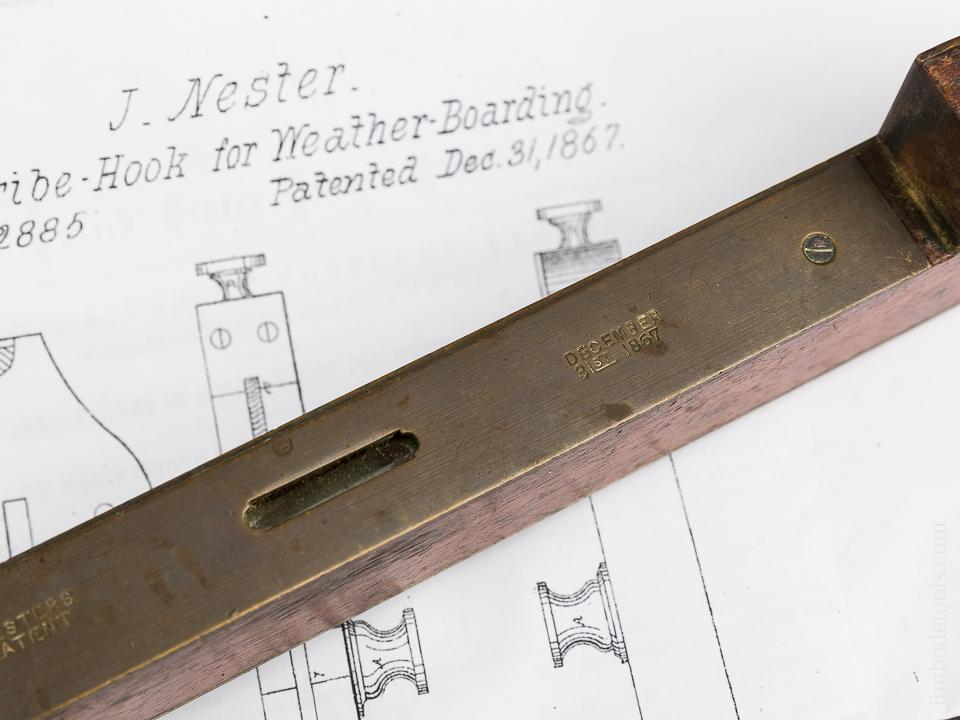 12 1/2 inch NESTERS Patent December 31, 1867 Marking Gauge - 83855R