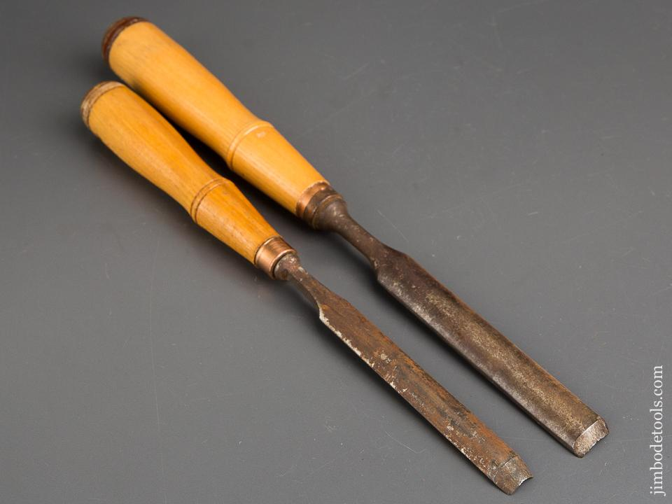 Pair of BUCK Gouges 3/4 and 1/2 inch NEW OLD STOCK - 83876R