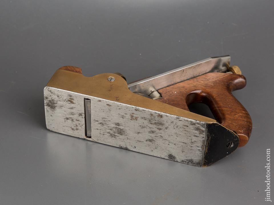 Heavy Gunmetal Infill Smooth Plane with Steel Sole and 2 1/4 inch NORRIS Iron - 83913