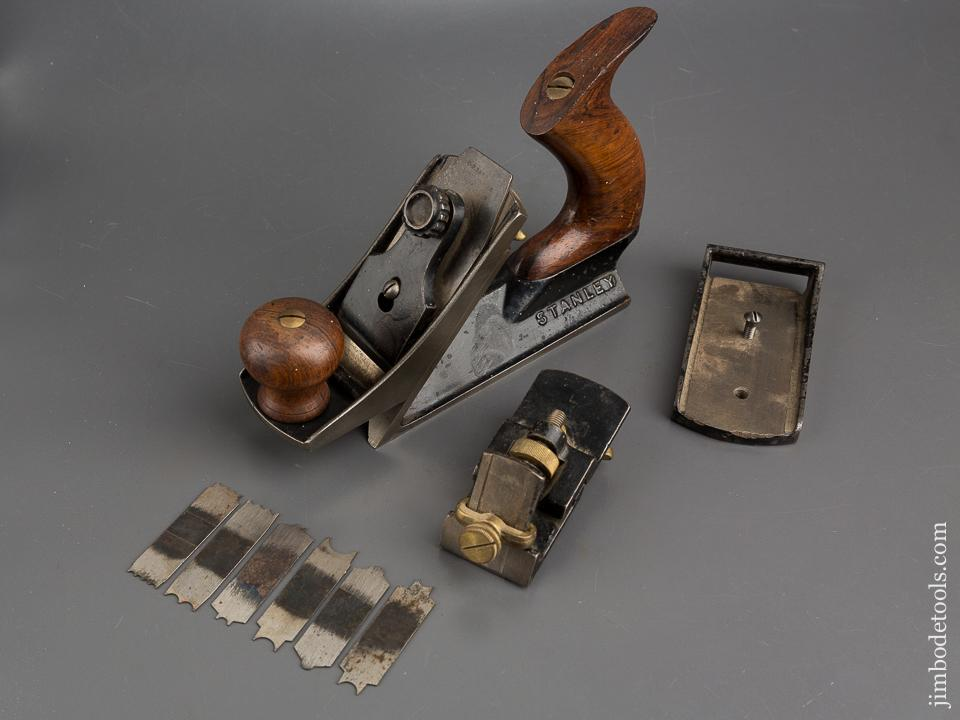 Extra Fine! STANLEY No. 72 1/2 Chamfer Plane with All Three Noses and Six Cutters - 83919