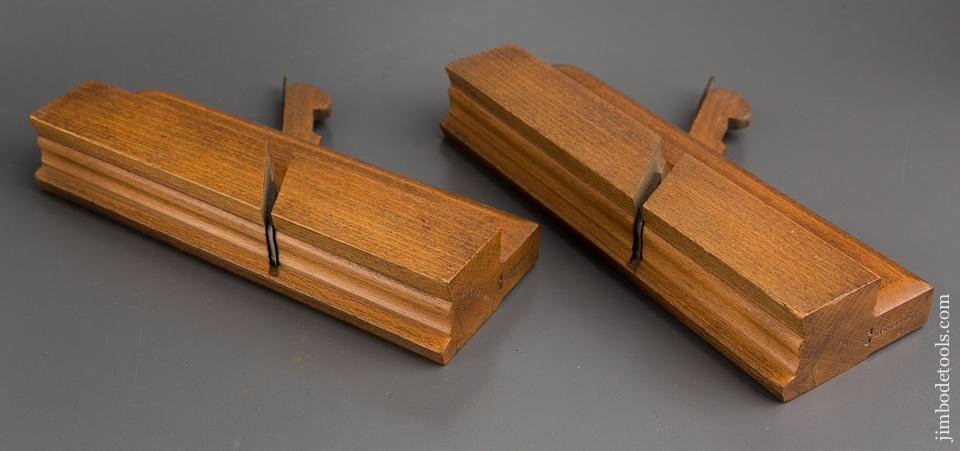 1st and 2nd Cut Sash Plane Set by HOLBROOK Bristol circa 1799-1838 NEAR MINT - 83949