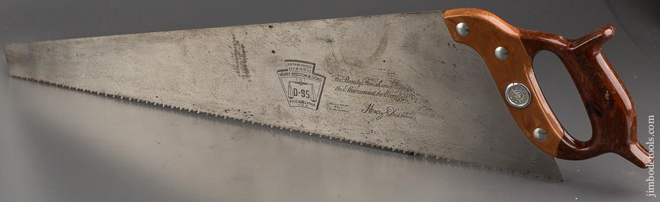 MINT 5 1/2 point 26 inch Rip DISSTON D95 Hand Saw UNUSED! - 83956