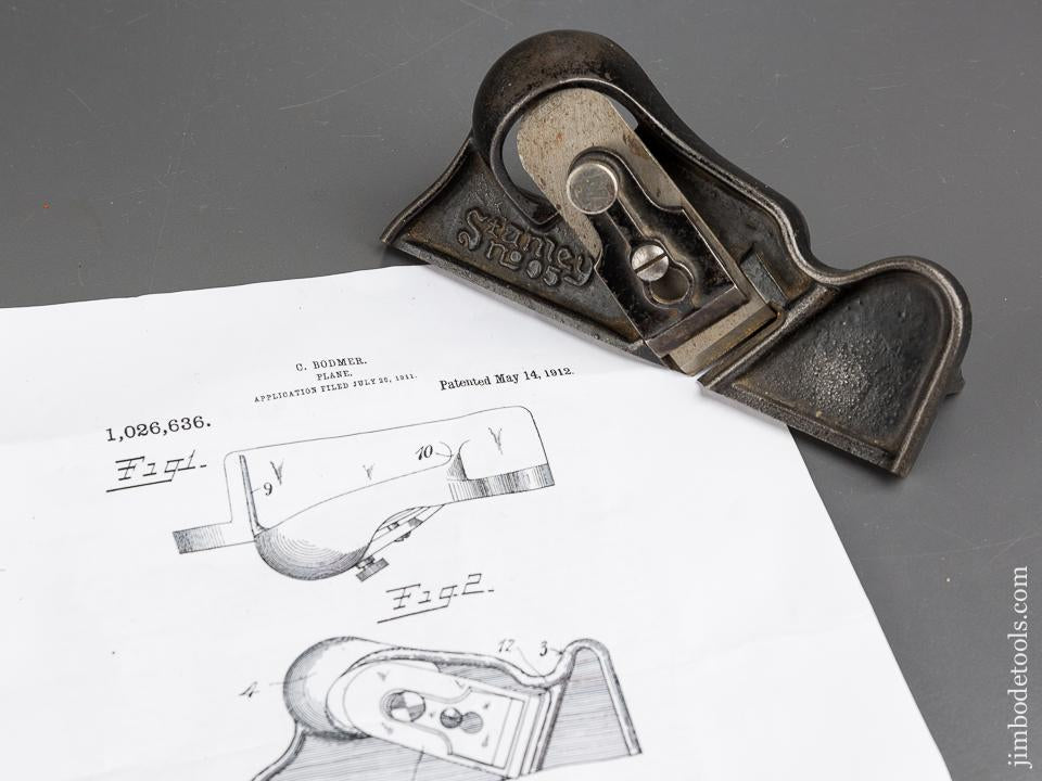 BODMER Patent May 14, 1912 STANLEY No. 95 Edge Trimming Block Plane - 84009
