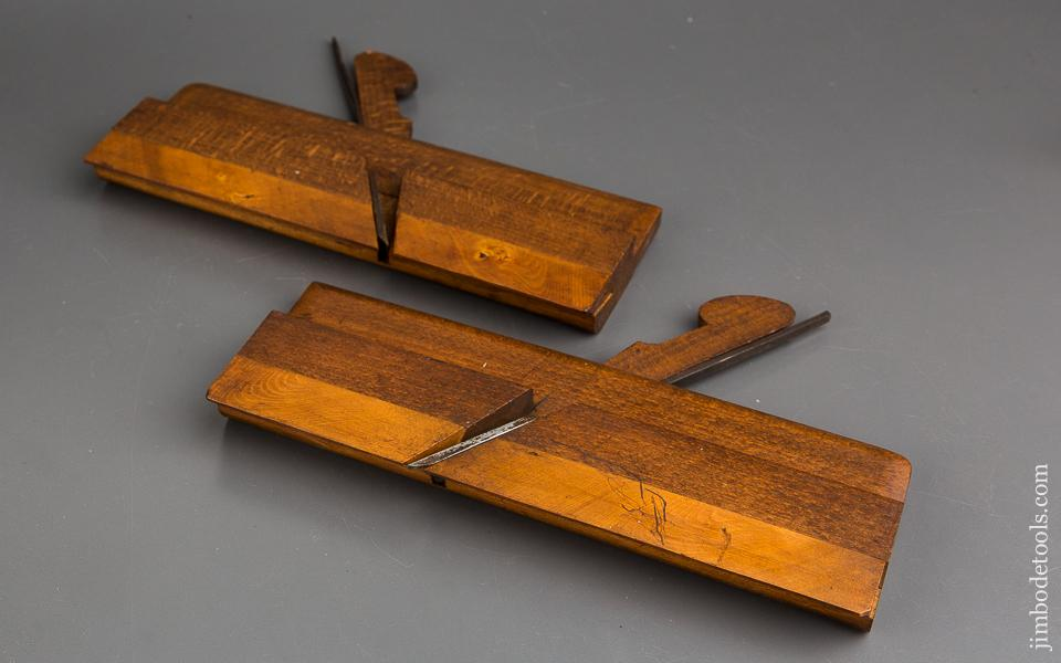 Pair of W. WATKINS BRADFORD Snipe Bill Moulding Planes circa 1845-75 EXTRA FINE - 84051