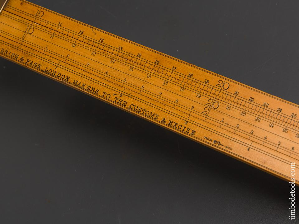 45 inch DRING & FAGE LONDON Boxwood Customs Slide Rule - 84110