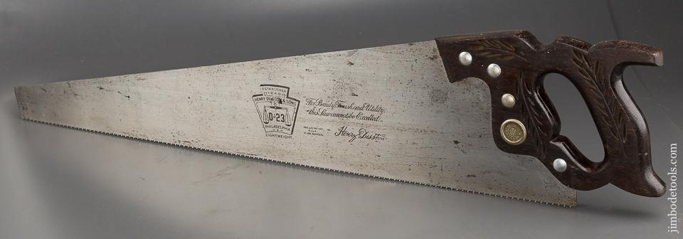 Sticky! 10 point 26 inch Crosscut DISSTON D23 Hand Saw with ROSEWOOD Handle - 84112
