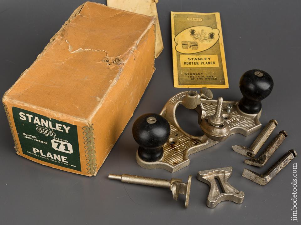 STANLEY No. 71 Router Plane 100% COMPLETE in Original Box - 84147