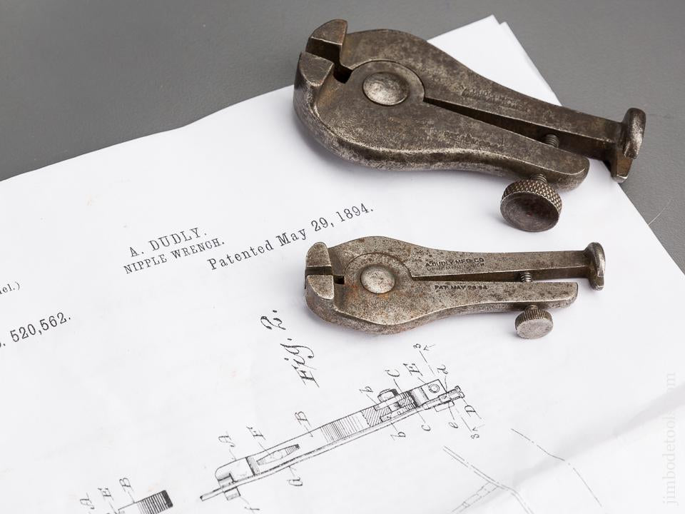 Two DUDLY Patent May 29, 1894 Spoke Wrench - 84189