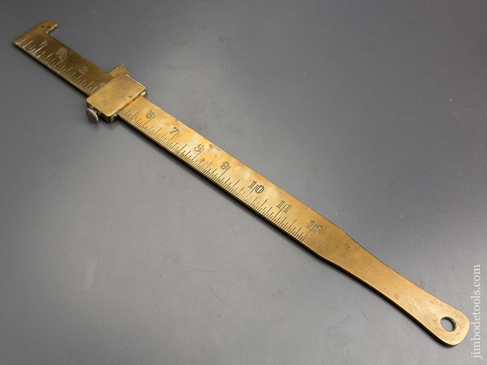 STARRETT No. 465 Brass Blacksmith's Caliper Rule - 84198