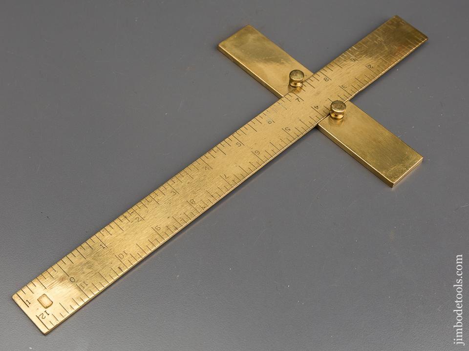 Twelve inch Heavy Brass Depth Square - 84201