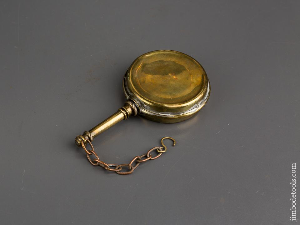 Three inch Wide Brass Oil Can - 84218
