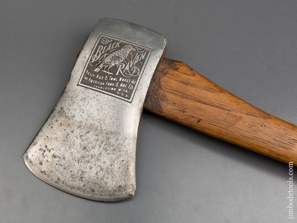 Very Crisp! KELLY BLACK RAVEN Felling Axe with Excellent Handle - 84252