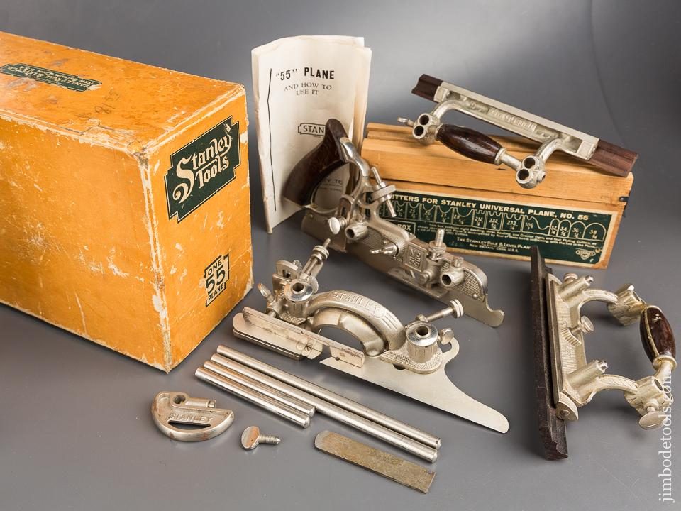 STANLEY No. 55 Combination Plane 100% COMPLETE in Original Box - 84346