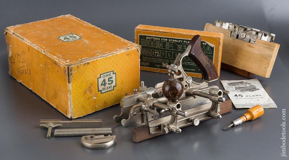 STANLEY NO. 45 Combination Plane 100% COMPLETE in Original Box SWEETHEART - 84359