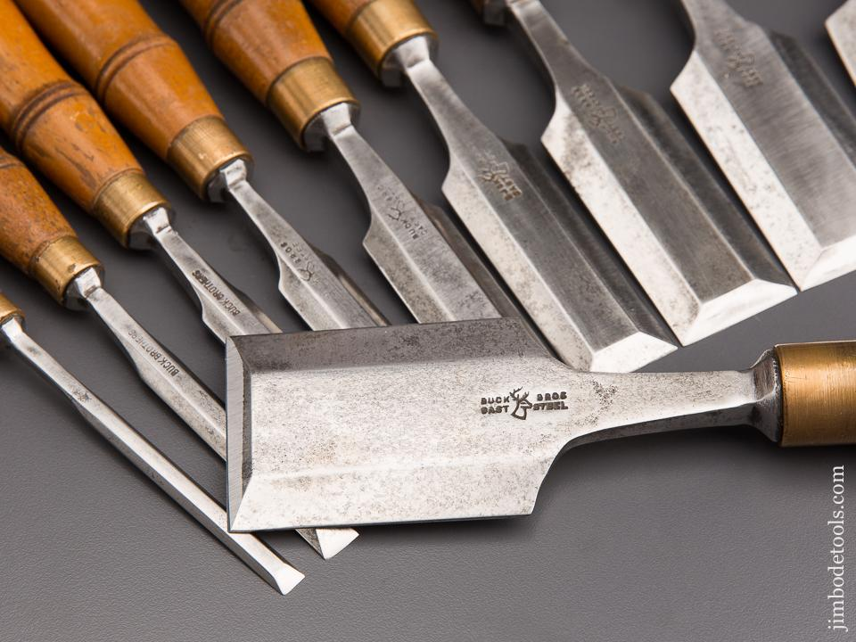 Great Set of Ten BUCK BROTHERS Tang Chisels - 84604 – Jim