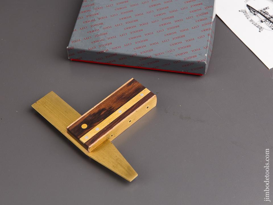 BRIDGE CITY TOOL WORKS HDS-2 Rosewood & Brass Dovetail Square in Original Box - 84619