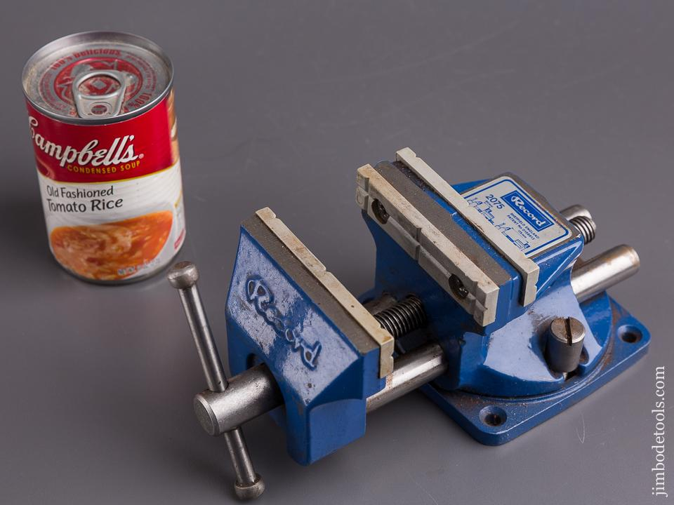 RECORD Top of the Line! No. 2075 Reversible Bench Vise with Swivel Base and Decal - 84635
