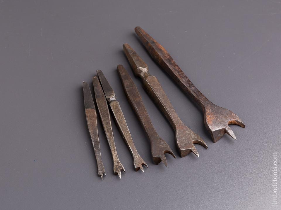 Working Set of Six 19th Century Center Bits for Bit Brace - 84648