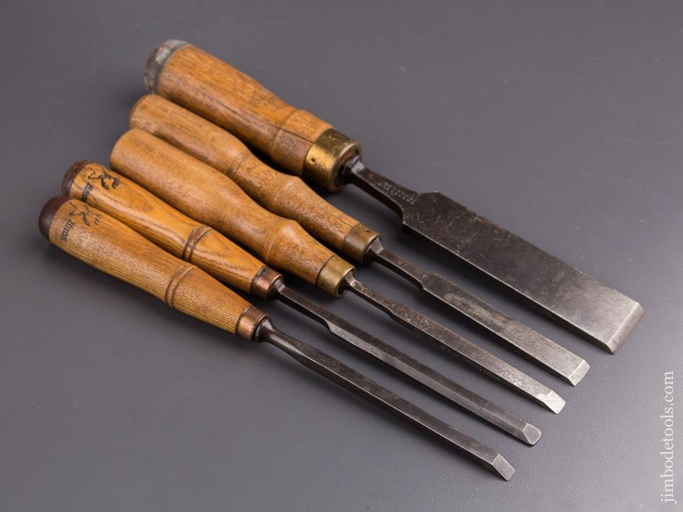Job Lot of Five Good Chisels - 84665