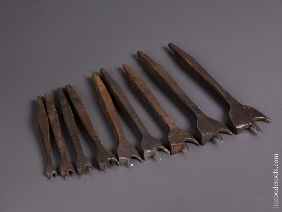 Working Set of Eight 19th Century Center Bits for Bit Brace -  84690