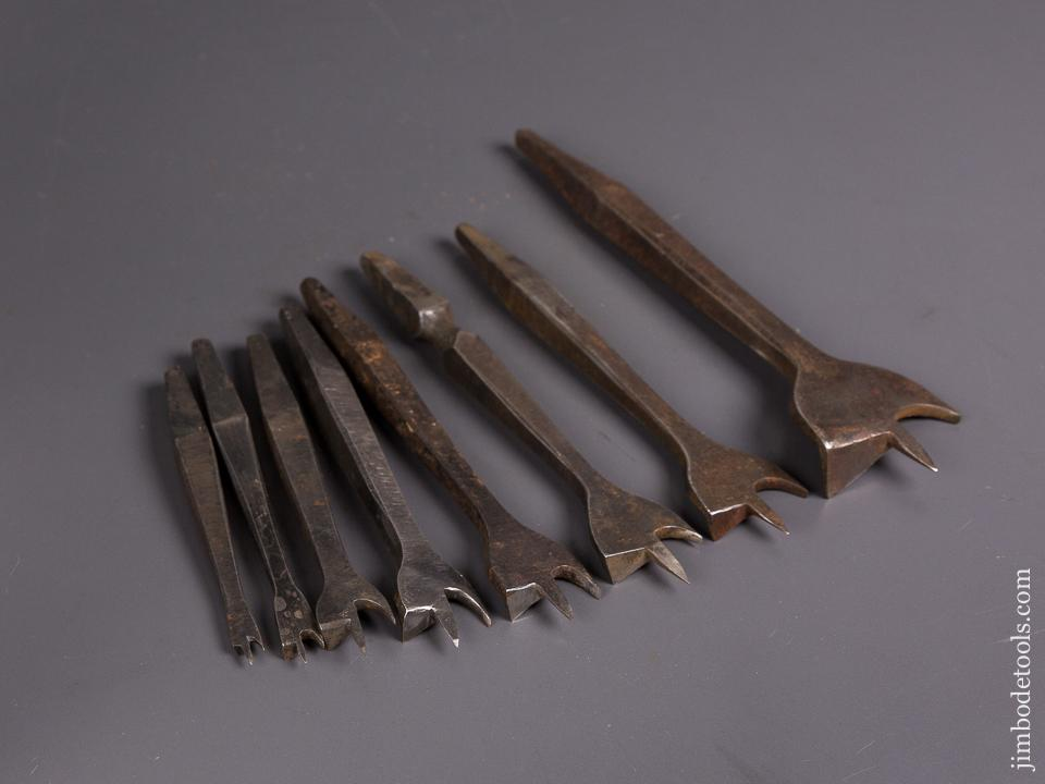 Working Set of Eight 19th Century Center Bits for Bit Brace - 84694
