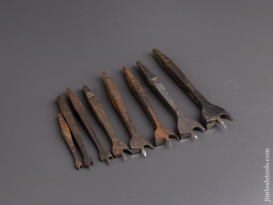 Working Set of Eight 19th Century Center Bits for Bit Brace - 84696