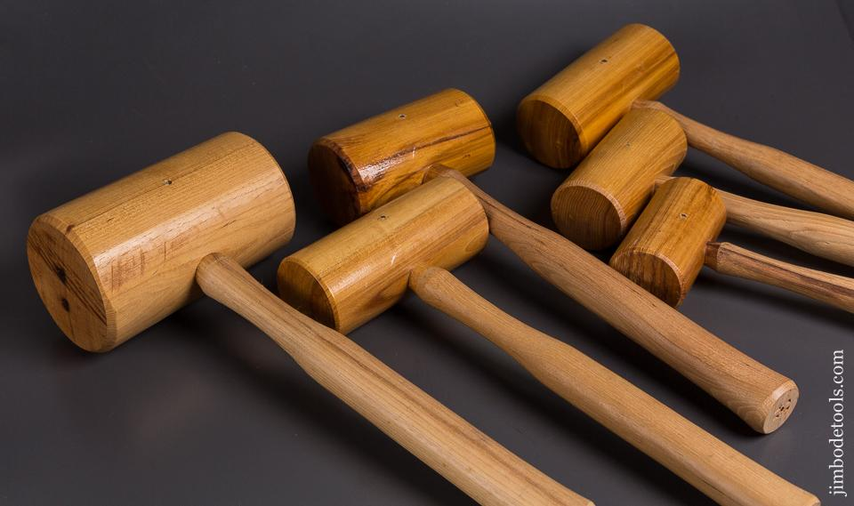 Unusual MINT Graduated Set of Six Hickory Mallets by LINK STAR INDIANA - 84726