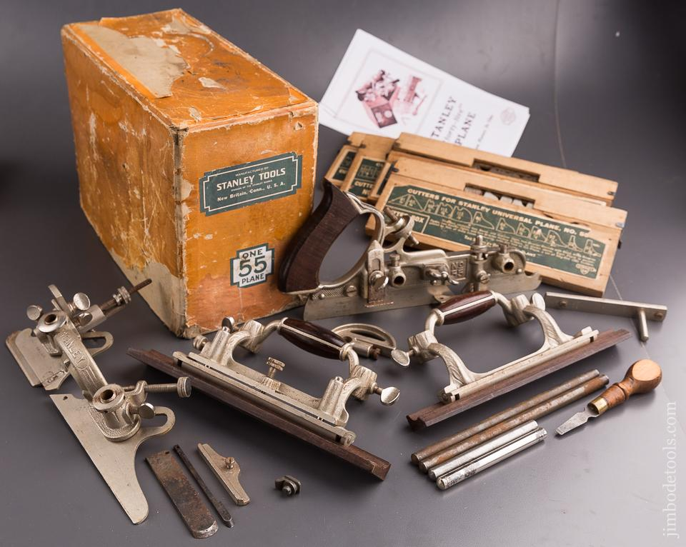 STANLEY No. 55 Combination Plane 100% COMPLETE in Original Box SWEETHEART -  84774