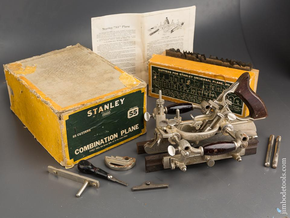 Extra Fine STANLEY No. 55 Combination Plane 100% COMPLETE in Original Box - 84780