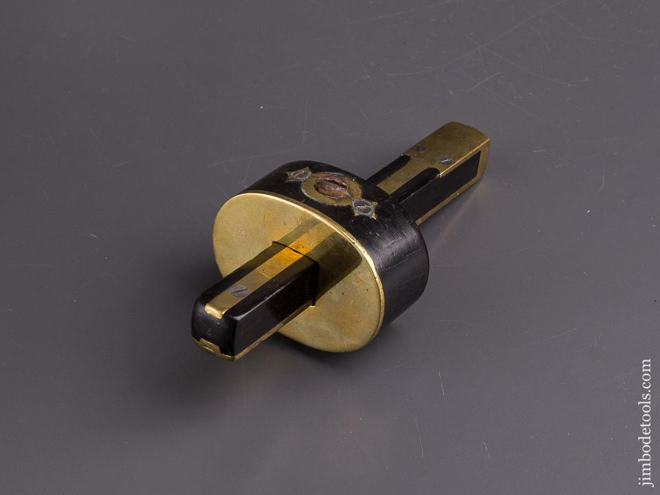 6 1/2 inch Ebony and Brass Mortise Gauge - 84875