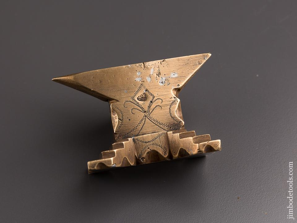Gorgeous File Worked and Engraved Brass Anvil - 84928U