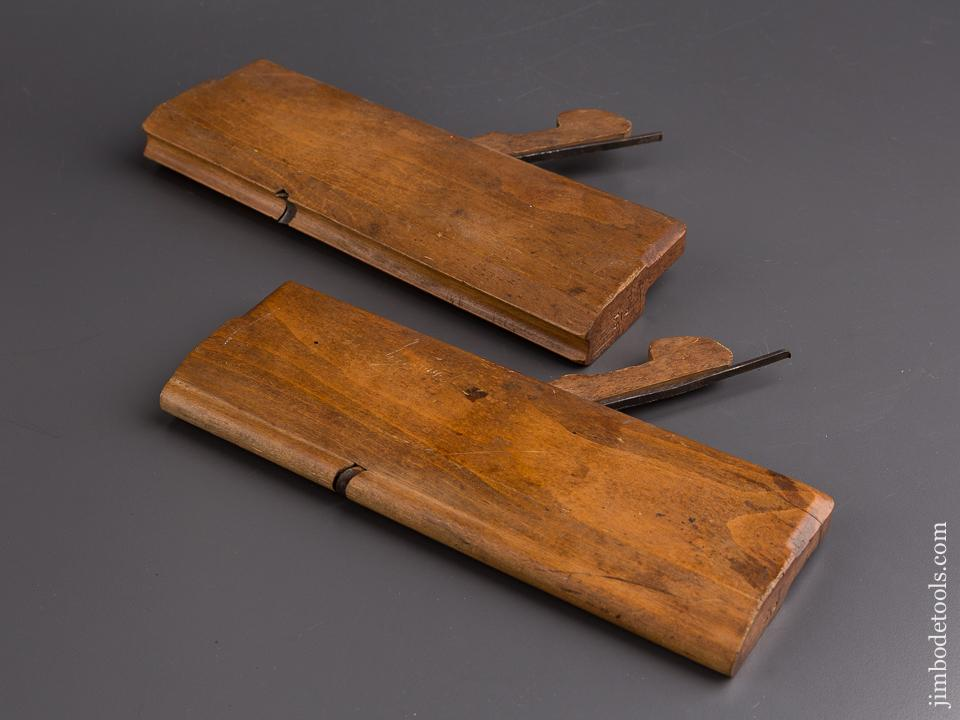 Pair of M. LONG Reading, PA 9/16 inch Table Joint Molding Planes circa 1850 EXTRA FINE - 85068