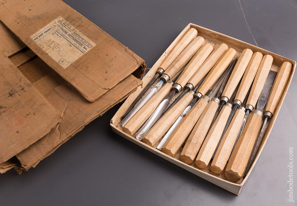 Vintage NEW OLD STOCK Set of Sixteen DASTRA Carving Chisels - 85289
