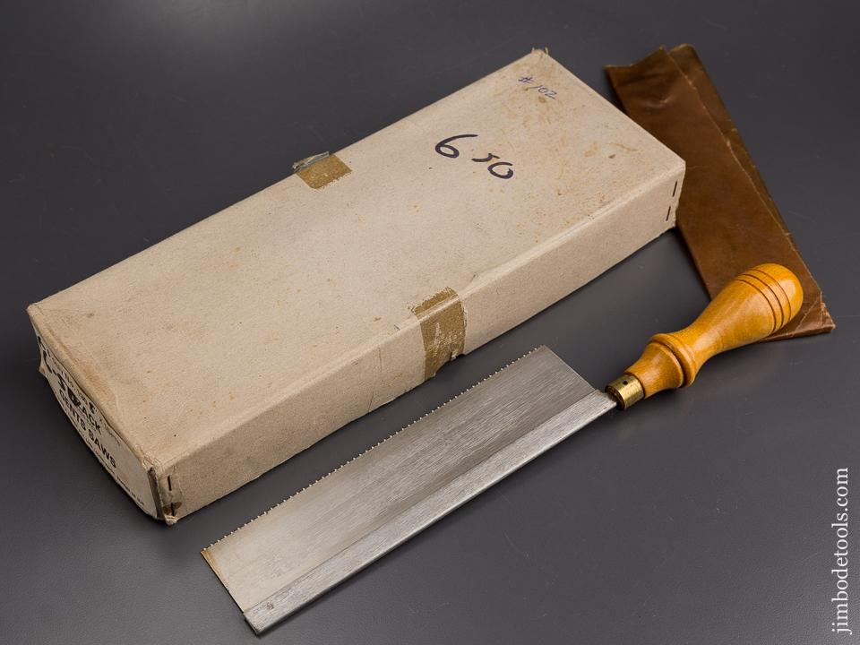 15 point 8 inch Rip TYZACK Dovetail Saw  MINT in Original Wrapper & Box NEW OLD STOCK - 85557