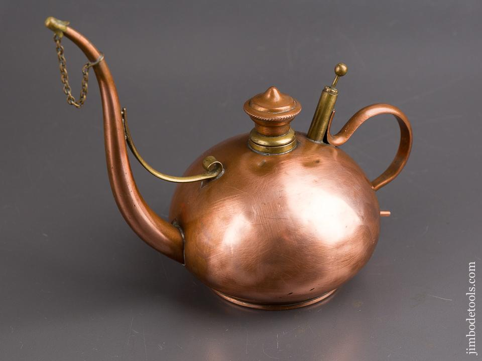 Fancy Copper Oil Can or Alcohol Flagon by STERNAU & CO - 85589