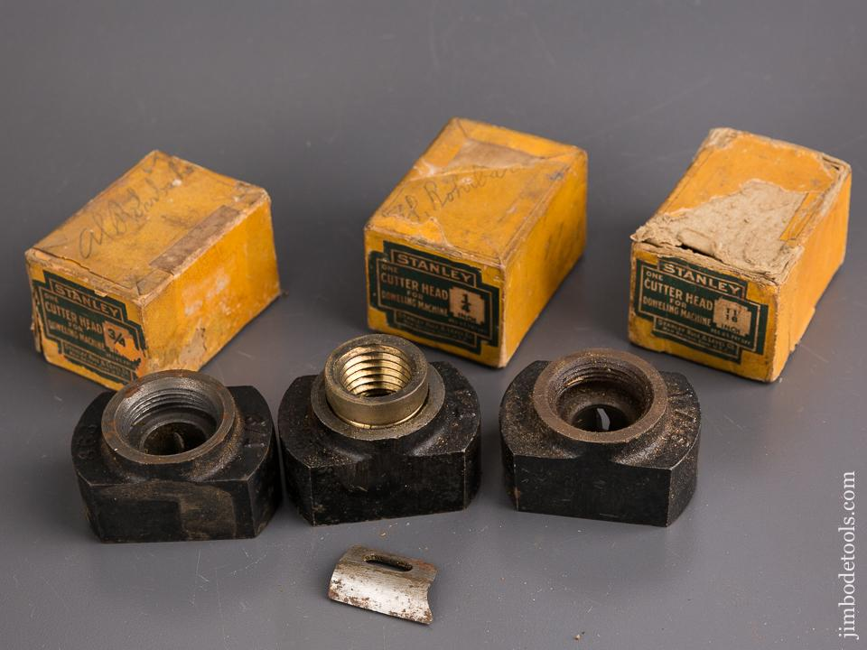 Near COMPLETE Set of Seven STANLEY Cutter Heads for STANLEY No. 77 Dowel Machine! - 85699