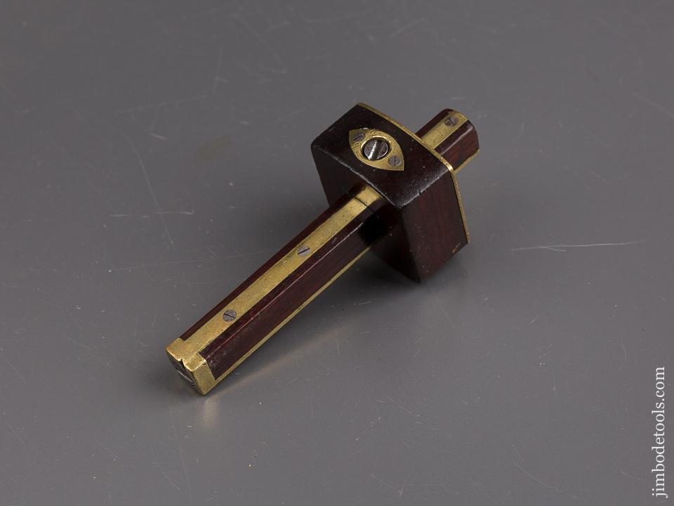 Miniature 5 1/2 inch VARVILL YORK Rosewood and Brass Mortise Gauge - 85965U