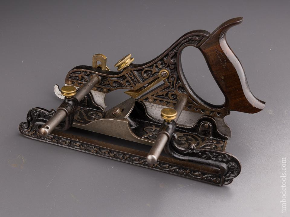 STANLEY MILLER's Patent No. 41 Combination Plane with Filletster Bed & Wraparound Fence NEAR MINT! - 86050
