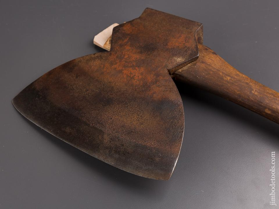 Timber Frame Hewing Offset Broad Axe with Original Paint! - 86066
