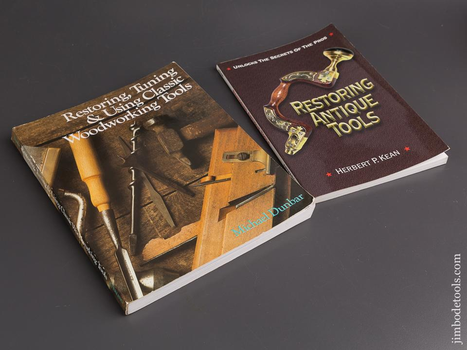 Two Paperback Books Restoring Antique Tools By Herbert P Kean And Restoring Tuning Using Classic Woodworking Tools By Michael Dunbar 86129
