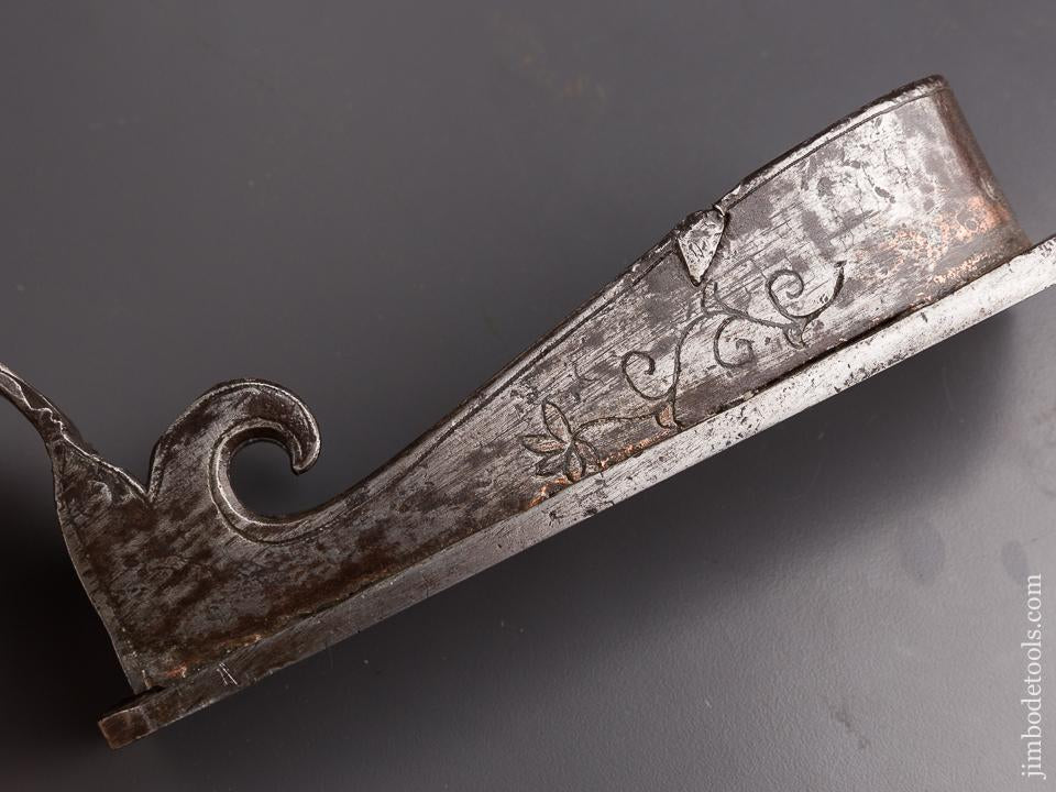 Amazing! 16th/17th Century Ornate Miter Plane with Shell Front Grip - 86204U