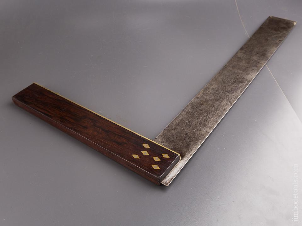 Ridiculous! 27 inch Rosewood, Brass, and Steel Try Square - 86280
