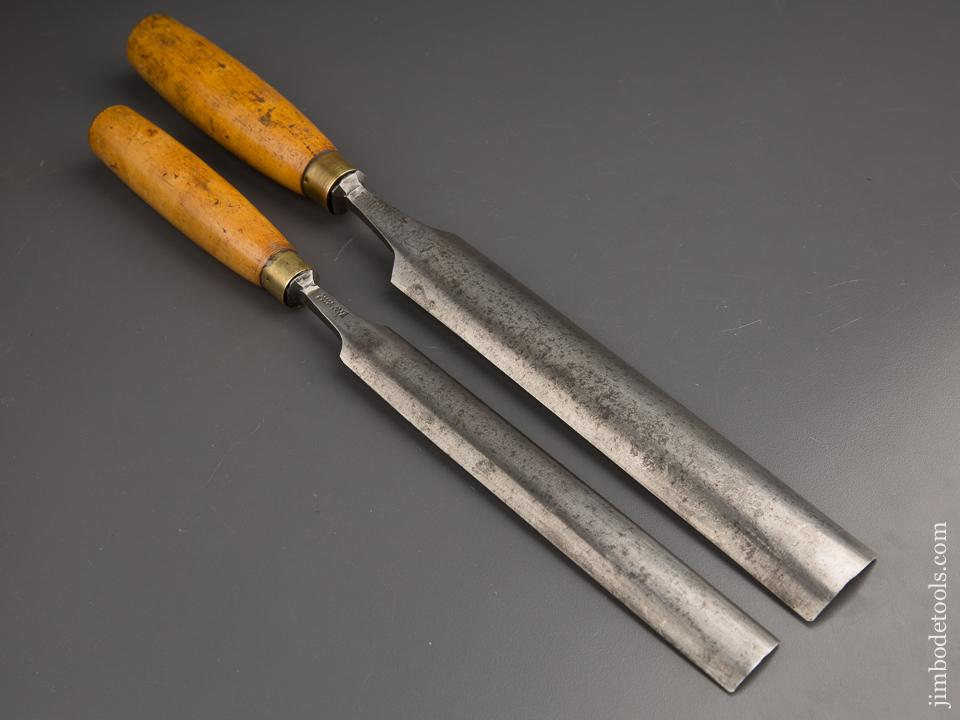 Two MATHIESON Boxwood Handled Pattern Maker's Paring Gouges - 86689