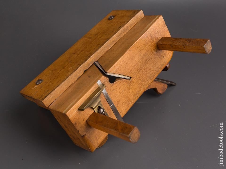 RARE! Lovely Fenced Screw Lock Filletser Plane by J. EDWIN CHILD Providence, RI circa 1850-1880 FINE- 86826