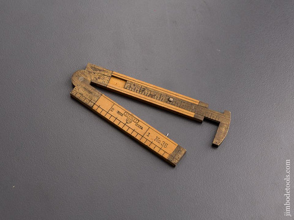 Mint! STANLEY No. 36 Boxwood & Brass Carpenter's Caliper Rule SWEETHEART - 86905
