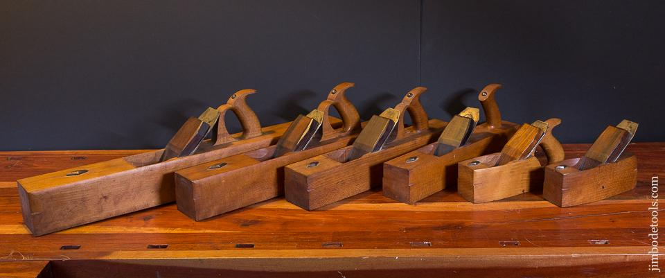 Magnificent UNPRECEDENTED Set of Six Special Order Shipwright's Planes by COPELAND & CO - 87078U