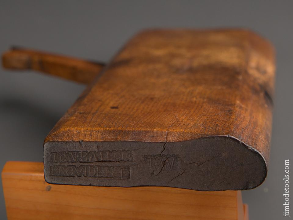 18th Century 10 1/4 inch Yellow Birch 1/2 inch Round Molding Plane by ION. BALLOU PROVIDENCE circa 1751-69 GOOD+ - 87118U