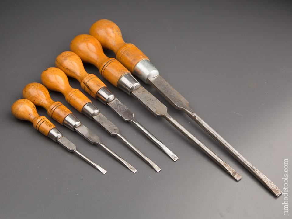 Set of Six MARPLES Cabinet Maker's Screwdrivers - 87191